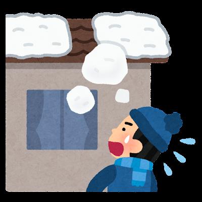 落雪のイラスト