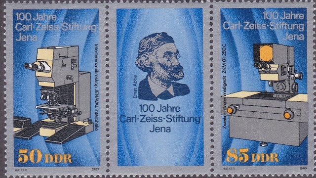 DDR 1989 Carl Zeiss Foundation Jena Pair