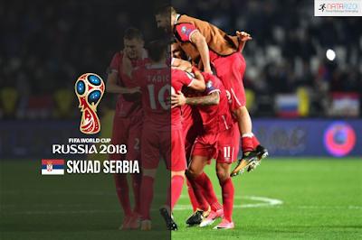 Skuad Susunan Pemain Serbia di Piala Dunia 2018