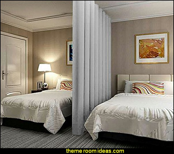 Room dividers - shared bedroom spaces - curtains