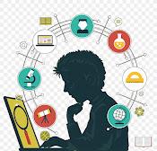 Student examining a laptop.