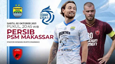 Link Live Streaming BRI Liga 1 Persib Bandung vs PSM Makassar