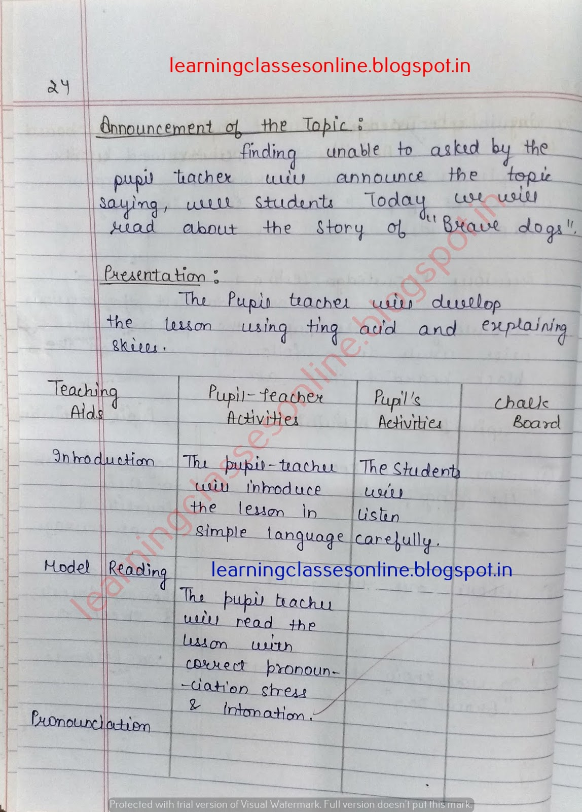 English Lesson Plan For Primary School, Model Lesson Plan For English, Sample Lesson Plans For English Teachers