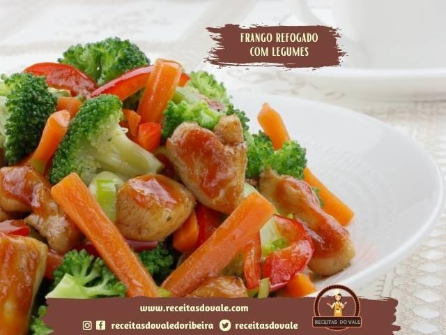 Receita de Frango refogado com Legumes