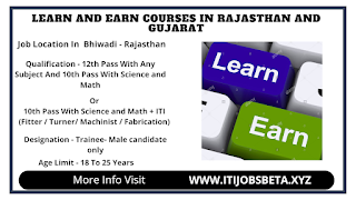 Learn And Earn Program For 12th And ITI Pass