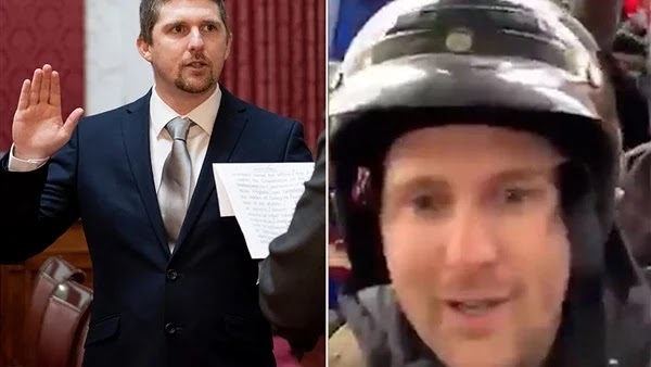 Derek Evans arrested a Republican lawmaker who participated in the congressional storming