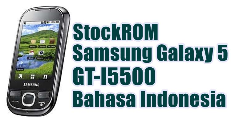 Samsung GT-I5500 Galaxy 5 Bahasa Indonesia