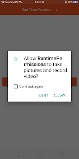 Request Runtime permission React Native