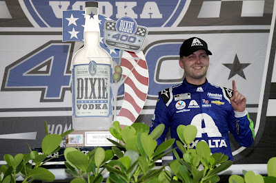 William Byron, driver of the No. 24 Hendrick Motorsports Chevrolet, won on Sunday by a dominant 2.777 seconds.  #NASCAR