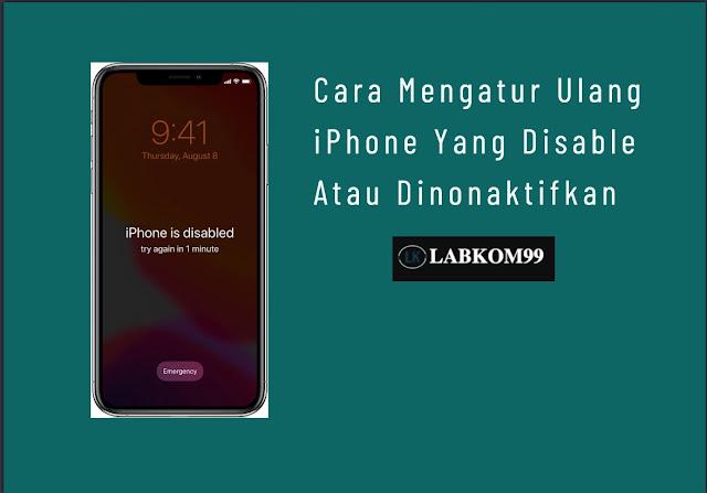 Cara Mengatur Ulang iPhone Yang Disable Atau Dinonaktifkan