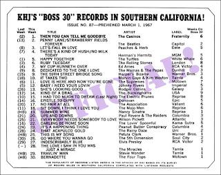 KHJ Boss 30 No. 87 - March 1, 1967
