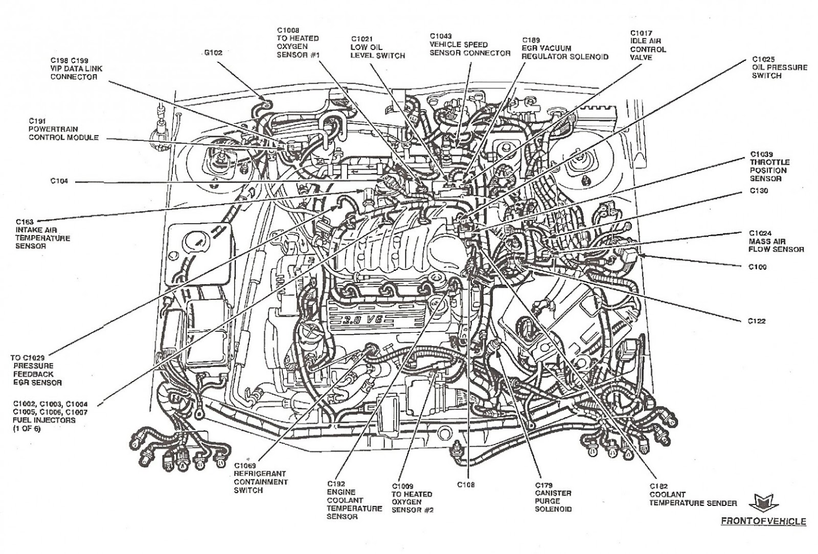 Engine Diagram 6 Ford Escape Up