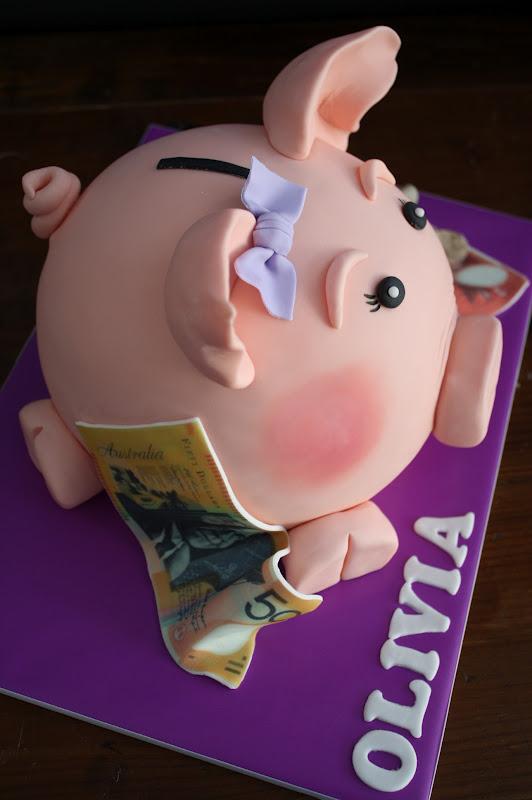 Sandy S Cakes Olivia S Piggy Bank
