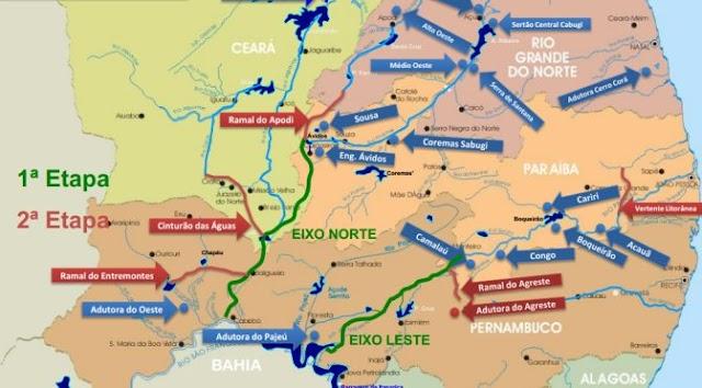 Transposição do Rio São Francisco: águas devem chegar ao RN no início de 2019