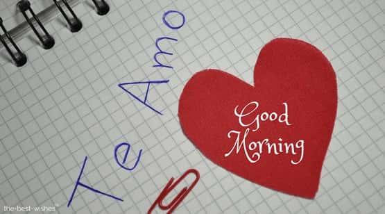 good morning love in spanish