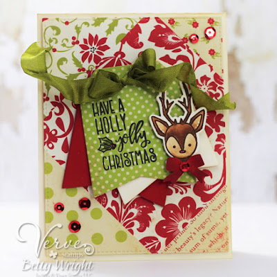 Handmade card by Betty Wright featuring Verve Stamps.