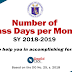 Number of Class Days SY 2018-2019