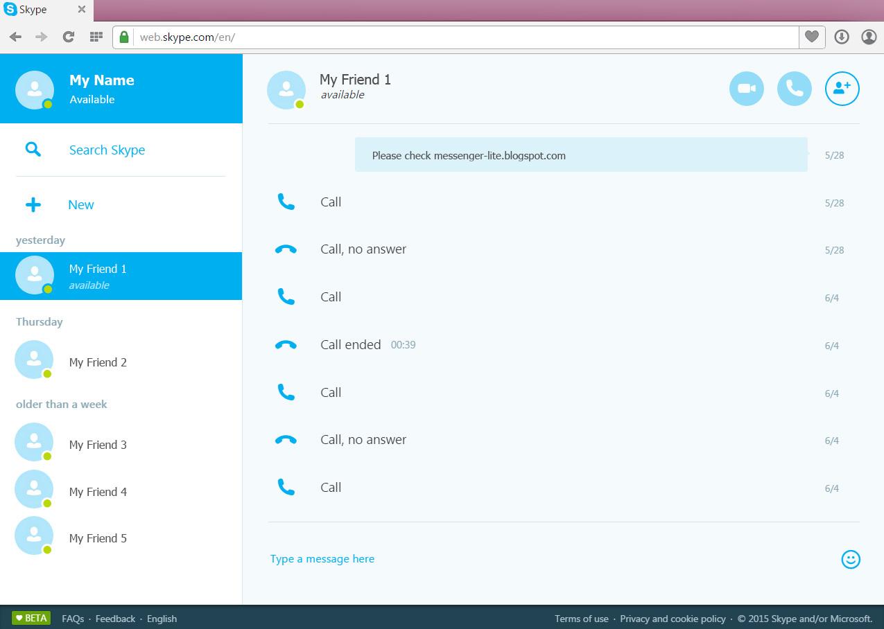 Skype Web Version | Messenger For Web
