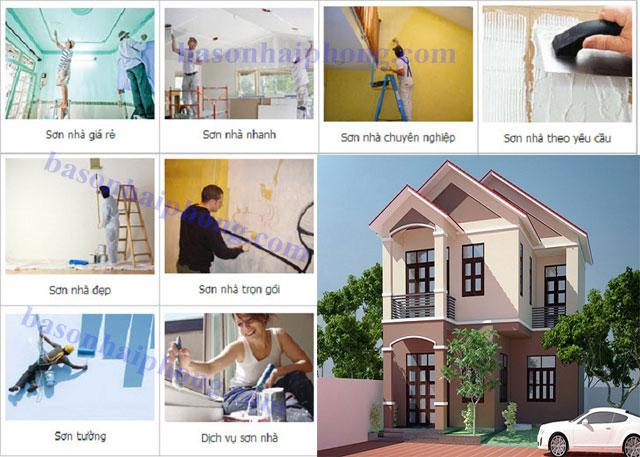 Chúng tôi chuyên nhận sơn nhà trọn gói tại Hải Phòng với chật lượng hoàn hảo