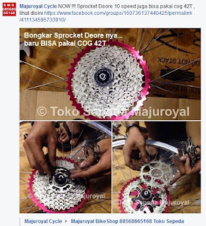 Sprocket Deore 10sp dan Cog 42T