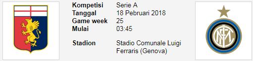 Tim yang sangat dinantikan perannya dalam langgar sengit Seri A Liga Italia PREDIKSI SERI A GENOA Vs INTERNAZIONALE