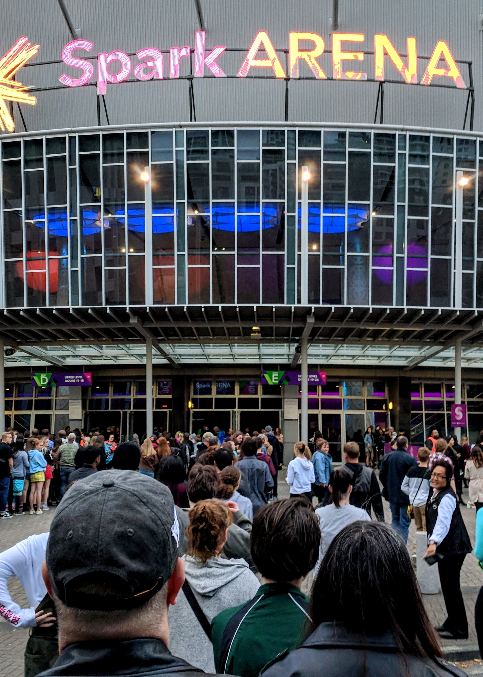 Spark Arena with a queue