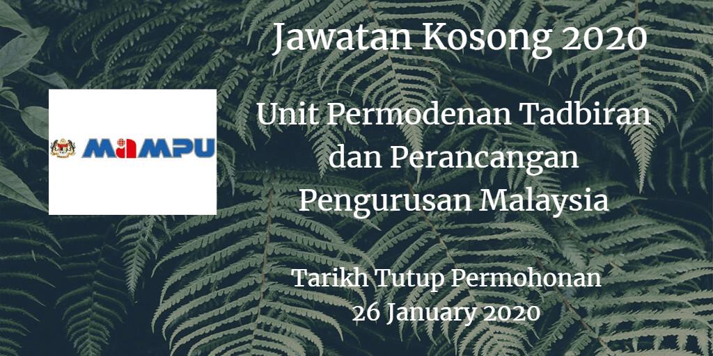 Jawatan Kosong MAMPU 26 January 2020