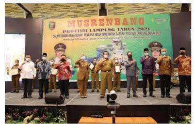 Gubernur Arinal Hadiri Musrenbang Provinsi Lampung Tahun 2021