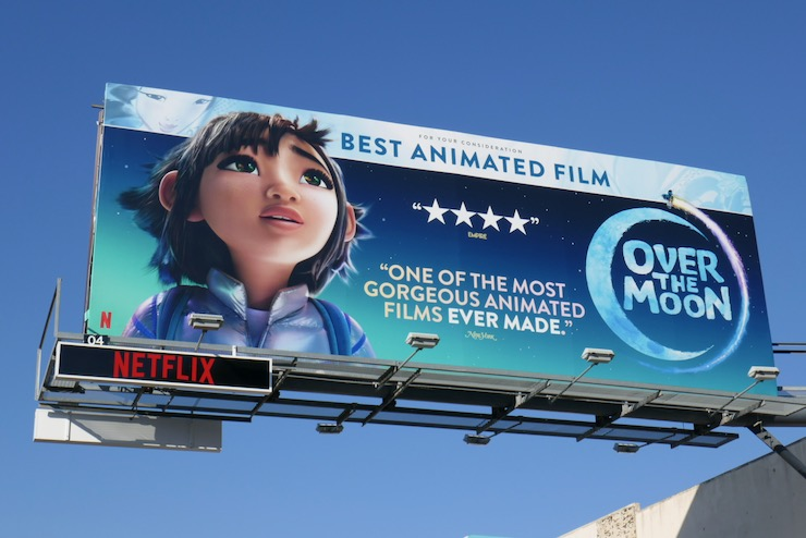 Over the Moon movie FYC billboard