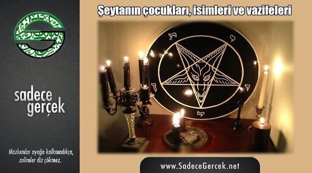 Şeytanın çocukları, isimleri ve vazifeleri