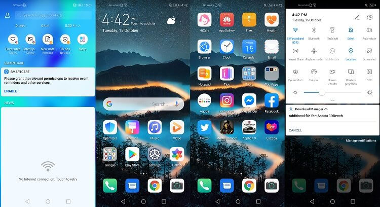 EMUI 9.1 skin based on Android 9 Pie OS