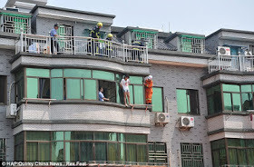 A Chinese teenager who jumped from a third floor window