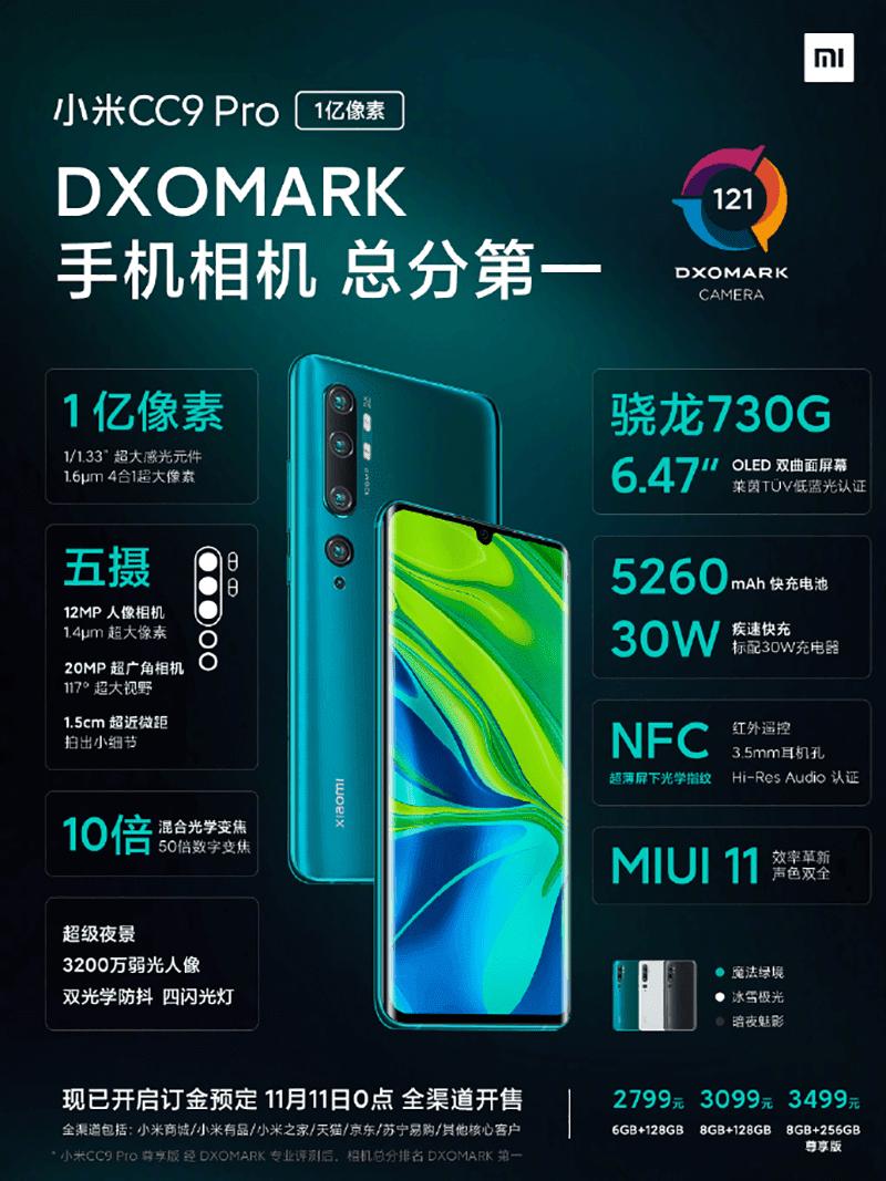 XIaomi Mi CC9 Pro now official