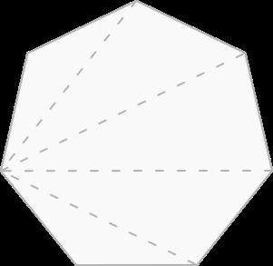 Heptágono decomposto em triângulos