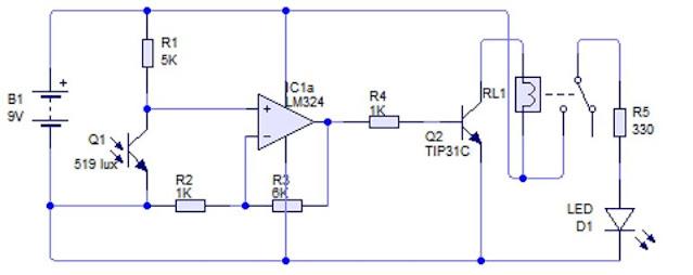 Implementasi Sensor Phototransistor dengan kendali Digital
