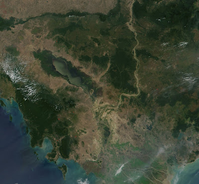 Imagen satélite del Tonlé Sap