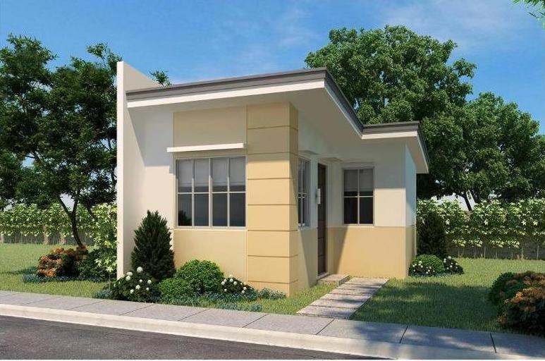 Beautiful small house design with 2 bedroom and 1 bathroom for Low cost small house plans