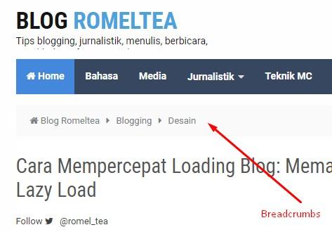 Cara Membuat Breadcrumbs di Blogspot (Tips SEO)