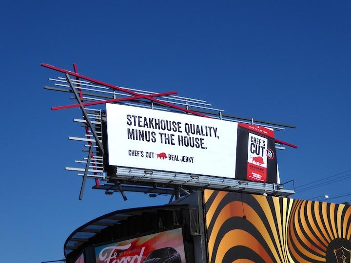 Steakhouse Chefs Cut Jerky billboard