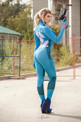 Zero Suit Samus Super Seksi dari Holly Wolf cewek manis sipa di embar