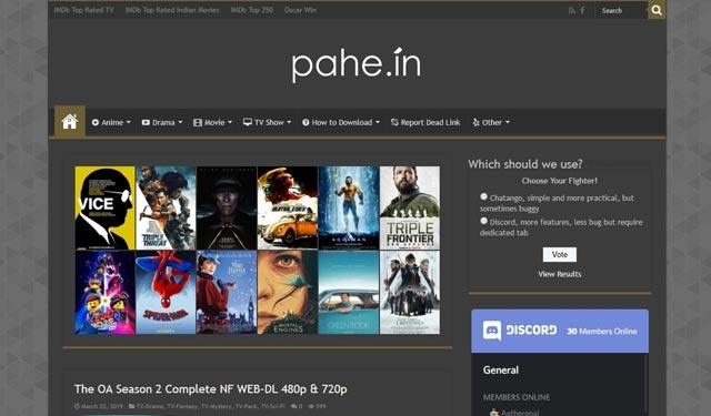 Pahe.in Situs Video Terlarang