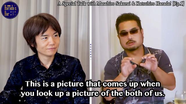 Masahiro Sakurai Smash Bros Katsuhiro Harada Tekken picture together bar pic photo
