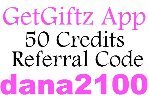 GetGiftz App Invite Code 2016, GetGiftz Promo Code, GetGiftz Referral Code 2017