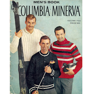 Mens Knitting Pattern Book 734 from Columbia Minerva