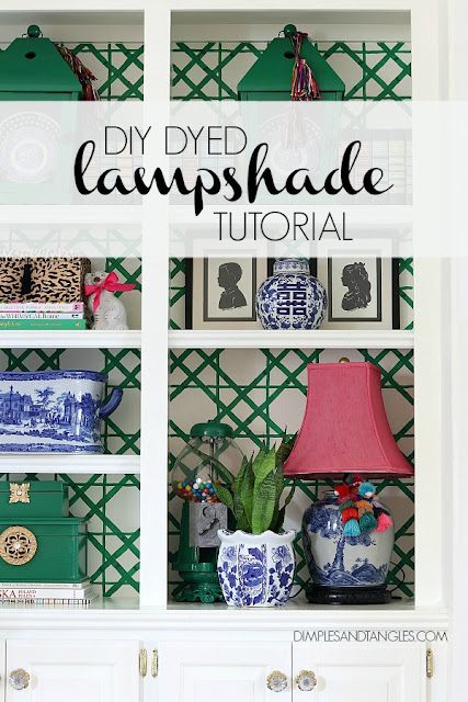 Rit Dye, Pink Lampshade, Dyed Shade