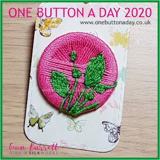 Day 260 : Preppy - One Button a Day 2020 by Gina Barrett