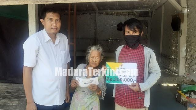 Baznas Sampang Salurkan Bantuan Seumur Hidup Kepada Kaum Dhuafa