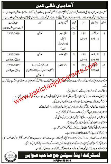 Latest Jobs In District And Session Judge Office