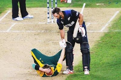 Elliott Steyn Spirit of Cricket worldcup semifinal Top 10 Spirit of Cricket moments of the century