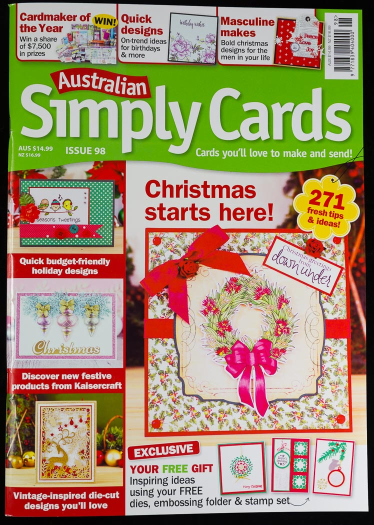 Proud to contribute to Australian Simply Cards